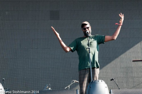 TV on the Radio's lead singer Tunde Adebimpe casually wows the crowd at BottleRock 2014.